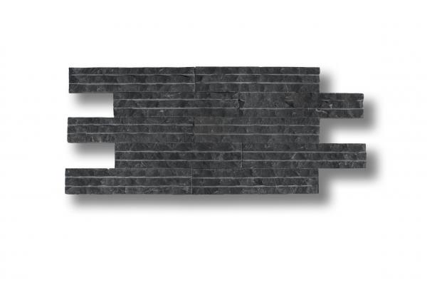 Płytki kamienne - Bazalt paski - nacinany